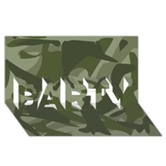 Green Camouflage Pattern PARTY 3D Greeting Card (8x4)