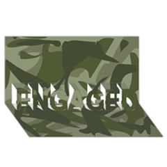 Green Camouflage Pattern ENGAGED 3D Greeting Card (8x4)