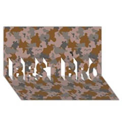 Brown And Grey Camo Pattern BEST BRO 3D Greeting Card (8x4)