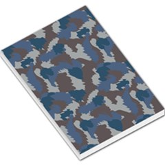 Blue And Grey Camo Pattern Large Memo Pads