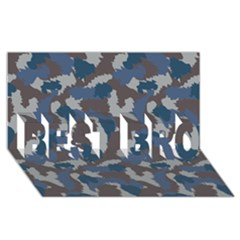 Blue And Grey Camo Pattern BEST BRO 3D Greeting Card (8x4)