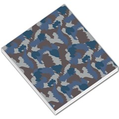 Blue And Grey Camo Pattern Small Memo Pads