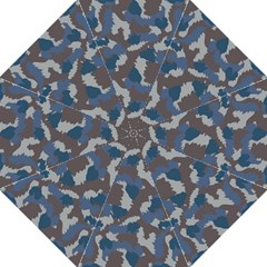 Blue And Grey Camo Pattern Golf Umbrellas