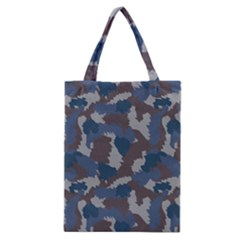 Blue And Grey Camo Pattern Classic Tote Bag