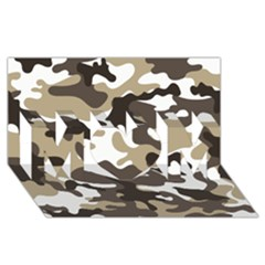 Urban White And Brown Camo Pattern MOM 3D Greeting Card (8x4)