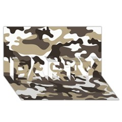 Urban White And Brown Camo Pattern PARTY 3D Greeting Card (8x4)