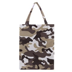 Urban White And Brown Camo Pattern Classic Tote Bag