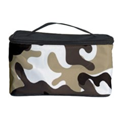Urban White And Brown Camo Pattern Cosmetic Storage Case