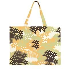 Pixel Desert Camo Pattern Large Tote Bag