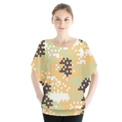 Pixel Desert Camo Pattern Blouse