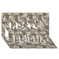 Grey Camouflage Pattern Best Friends 3D Greeting Card (8x4)