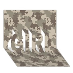 Grey Camouflage Pattern GIRL 3D Greeting Card (7x5)
