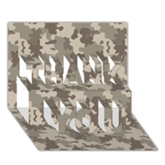 Grey Camouflage Pattern THANK YOU 3D Greeting Card (7x5)