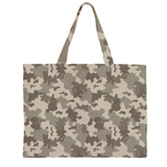 Grey Camouflage Pattern Large Tote Bag