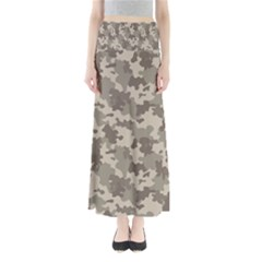 Grey Camouflage Pattern Maxi Skirts