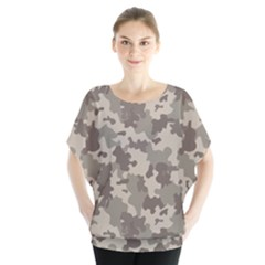 Grey Camouflage Pattern Blouse