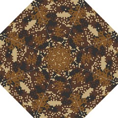 Pixel Brown Camo Pattern Hook Handle Umbrellas (Large)