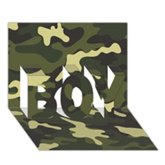 Green Camo Pattern BOY 3D Greeting Card (7x5)