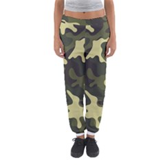 Green Camo Pattern Women s Jogger Sweatpants