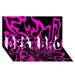 Magenta and black BEST BRO 3D Greeting Card (8x4)