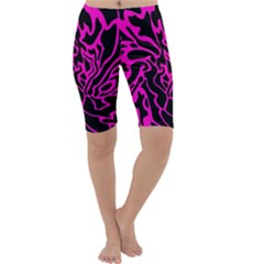 Magenta and black Cropped Leggings