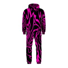 Magenta and black Hooded Jumpsuit (Kids)