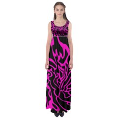 Magenta and black Empire Waist Maxi Dress
