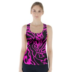 Magenta and black Racer Back Sports Top