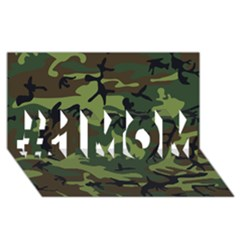 Woodland Camouflage Pattern #1 MOM 3D Greeting Cards (8x4)