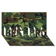 Woodland Camouflage Pattern BEST BRO 3D Greeting Card (8x4)