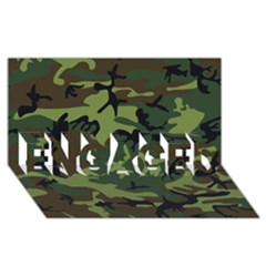 Woodland Camouflage Pattern ENGAGED 3D Greeting Card (8x4)