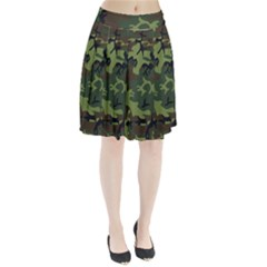 Woodland Camouflage Pattern Pleated Skirt