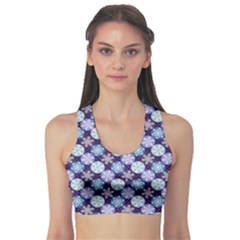 Snowflakes Pattern Sports Bra