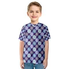 Snowflakes Pattern Kid s Sport Mesh Tee