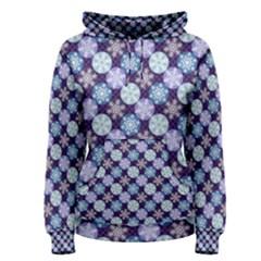 Snowflakes Pattern Women s Pullover Hoodie