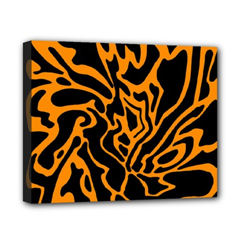 Orange and black Canvas 10  x 8