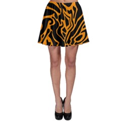 Orange and black Skater Skirt