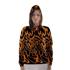 Orange and black Hooded Wind Breaker (Women)