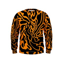 Orange and black Kids  Sweatshirt