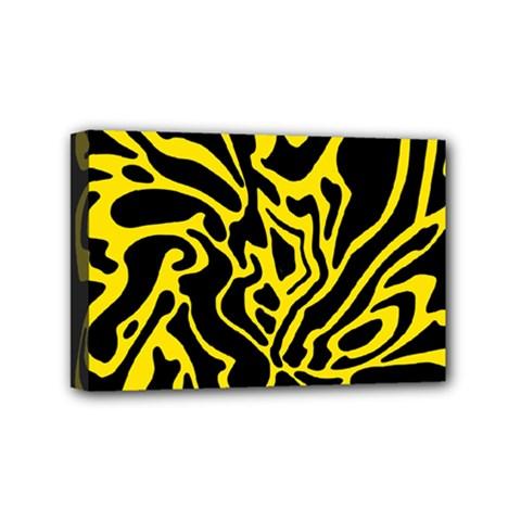 Black and yellow Mini Canvas 6  x 4