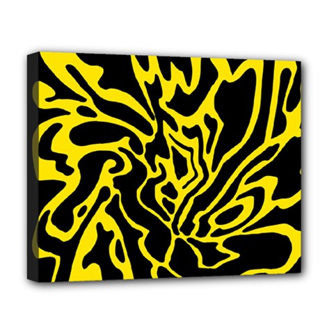 Black and yellow Deluxe Canvas 20  x 16