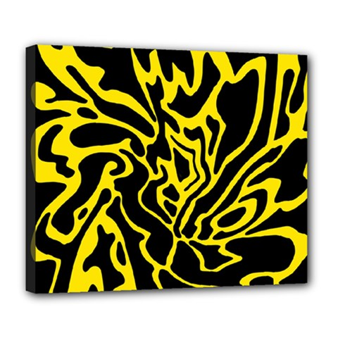 Black and yellow Deluxe Canvas 24  x 20