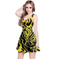 Black and yellow Reversible Sleeveless Dress
