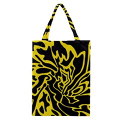 Black and yellow Classic Tote Bag