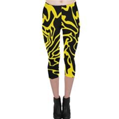 Black and yellow Capri Leggings
