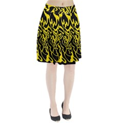 Black And Yellow Pleated Skirt