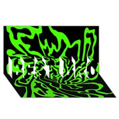 Green and black BEST BRO 3D Greeting Card (8x4)