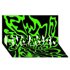 Green and black ENGAGED 3D Greeting Card (8x4)