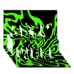 Green and black Get Well 3D Greeting Card (7x5)