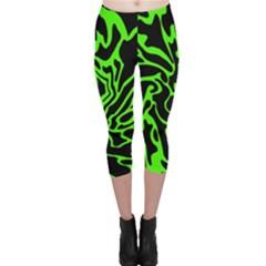 Green and black Capri Leggings